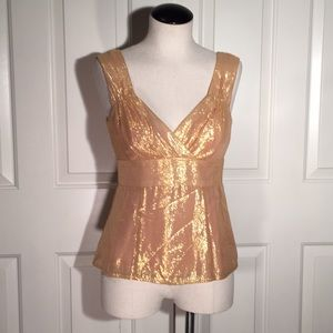Holiday rose gold Nanette lepore top
